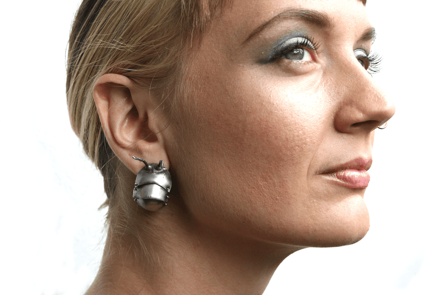 Kinetic Roly Poly Hoop Earrings