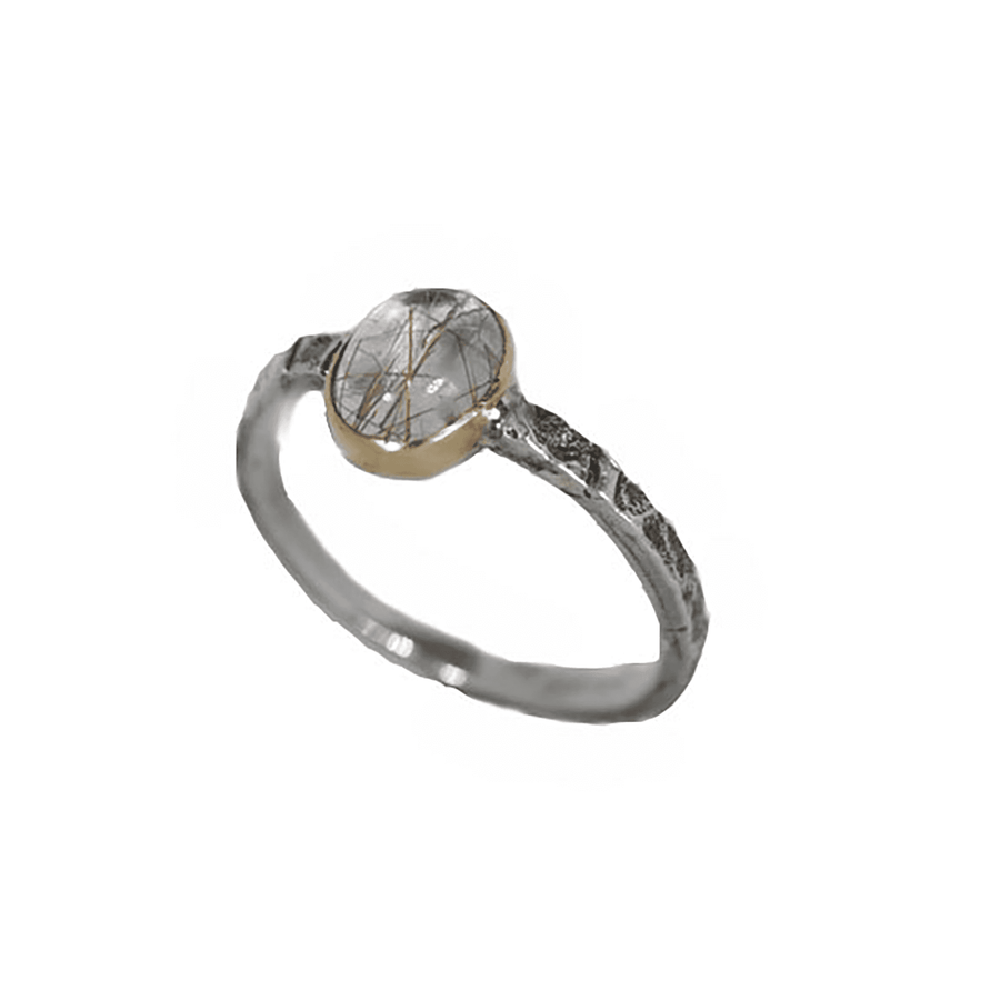 Rutilated Meta Philo Ring