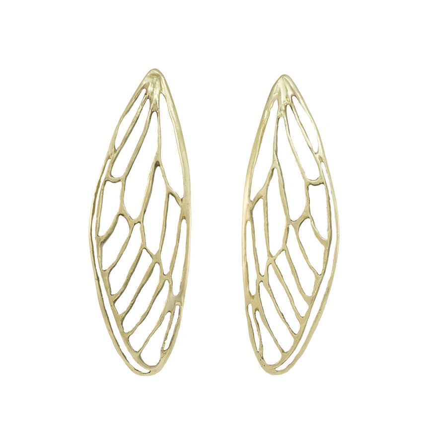 Bold Cicada Wing Earrings