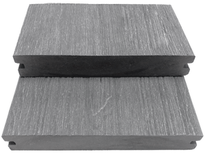 GEWGSB_Gray Grooved-Edge Wood Grain Solid Board Sample - Factory Floorings