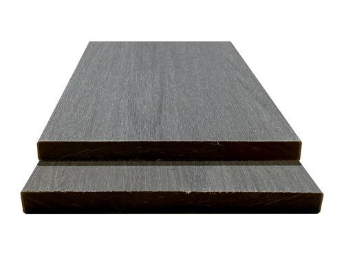 SEWGFB_Gray Squared Edge Wood Grain Fascia Board Sample - Factory Floorings