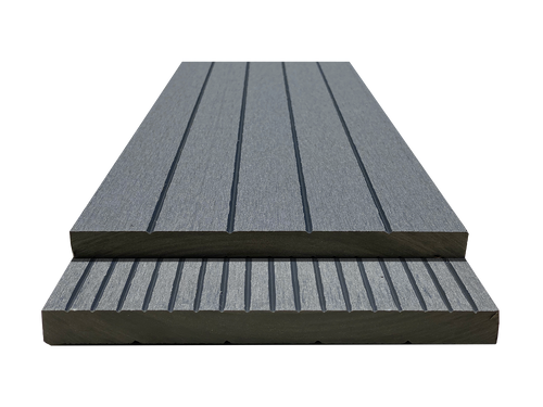 SEFB_Gray Squared Edge Fascia Board Sample - Factory Floorings