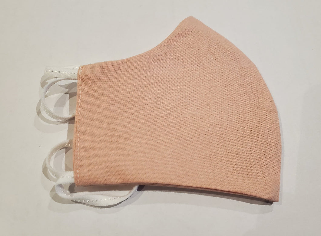 Organic reusable mask - 100% cotton - For Kids - Blush Pâle