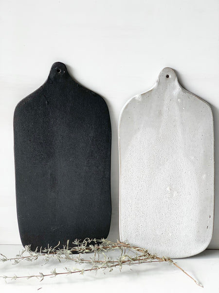 Pair of rustic minimalist cheese boards