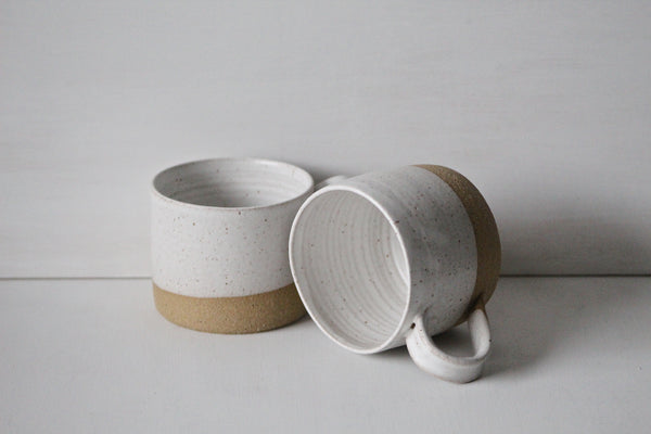 Two rustic mugs from UNO collection