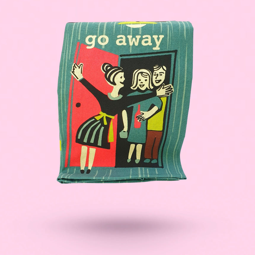 Go Away Dish Towel by Blue Q - Happy Factory