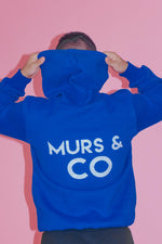 Load image into Gallery viewer, Original Logo Hoodie in Lapis Blue - Murs & Co