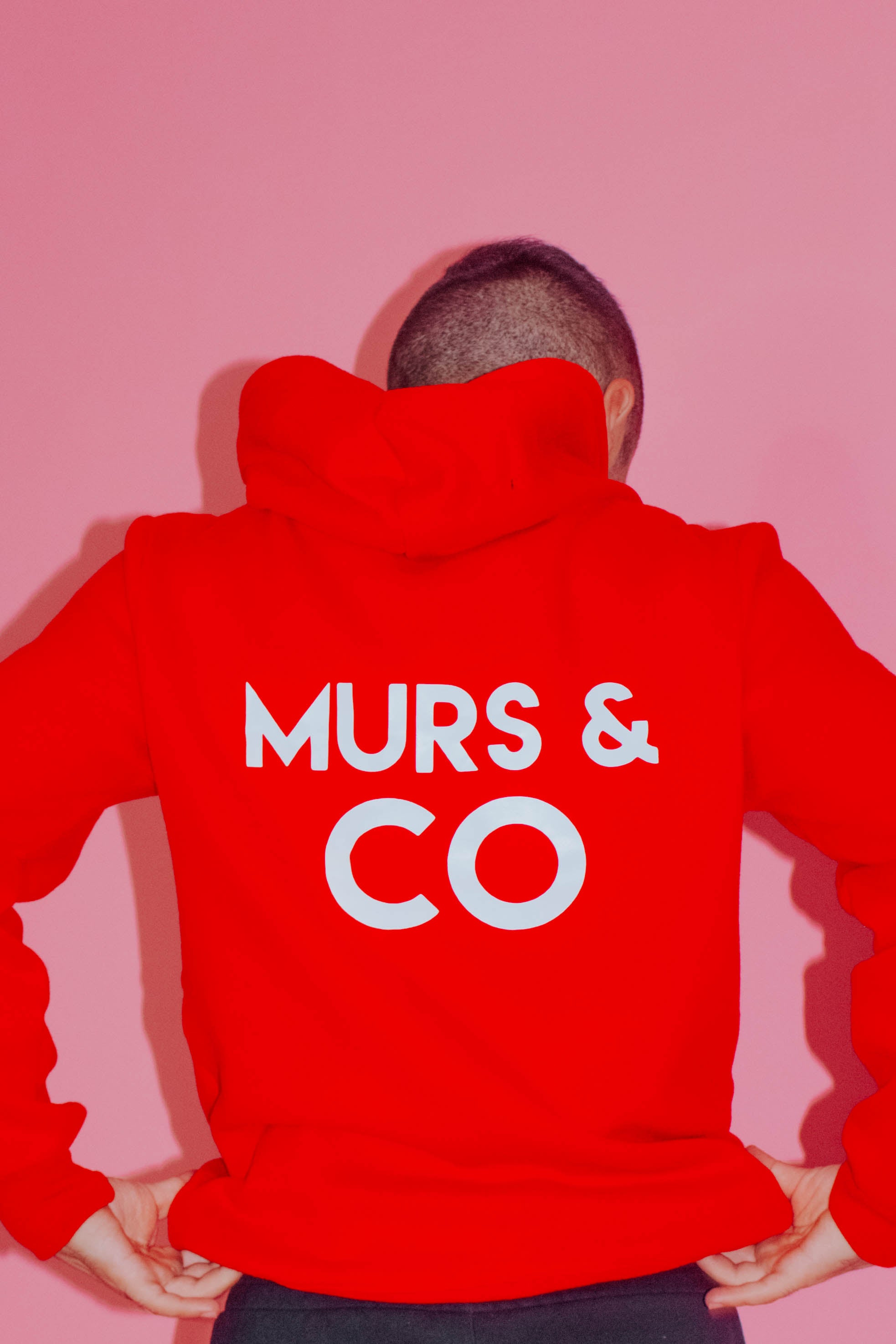 Original Logo Hoodie in Rose Red - Murs & Co