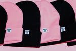 Load image into Gallery viewer, Cuffed M&C Tag Beanie in Pink - Murs & Co