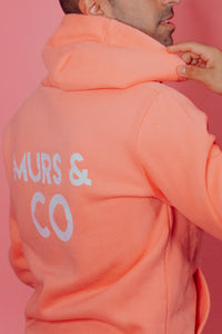 Original Logo Hoodie in Peach Pink - Murs & Co