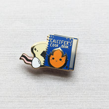 Load image into Gallery viewer, Calcifer's Cookbook | Hard Enamel Pin