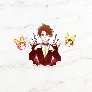 Dapper Deku Sticker Set