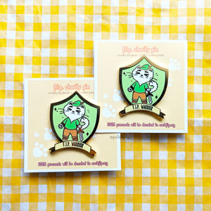 FIP Warrior | Feline Infectious Peritonitis Charity Pin