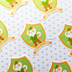 FIP Warrior | Feline Infectious Peritonitis Charity Sticker