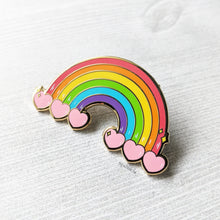 Load image into Gallery viewer, Rainbow Heart Containers | Hard Enamel Pins