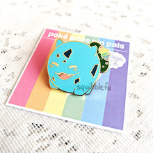 Load image into Gallery viewer, Poké Pride Pin Pals | Bulbasaur Enamel Pin