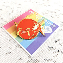 Load image into Gallery viewer, ***RETIRING last chance!*** Poké Pride Pin Pals | Magikarp Enamel Pin