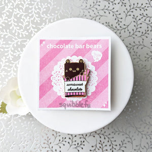 Choco Bar Bears | Semisweet Chocolate Enamel Pin