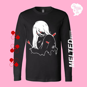 ***RETIRING last chance!*** MELTED Japanese Streetwear Inspired Anime Long Sleeve Shirt