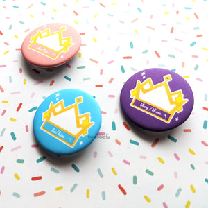 Pronoun Crowns | He/Him, She/Her, They/Them Buttons