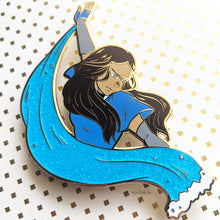 Load image into Gallery viewer, Katara | ATLA in Action | Hard Enamel Pin