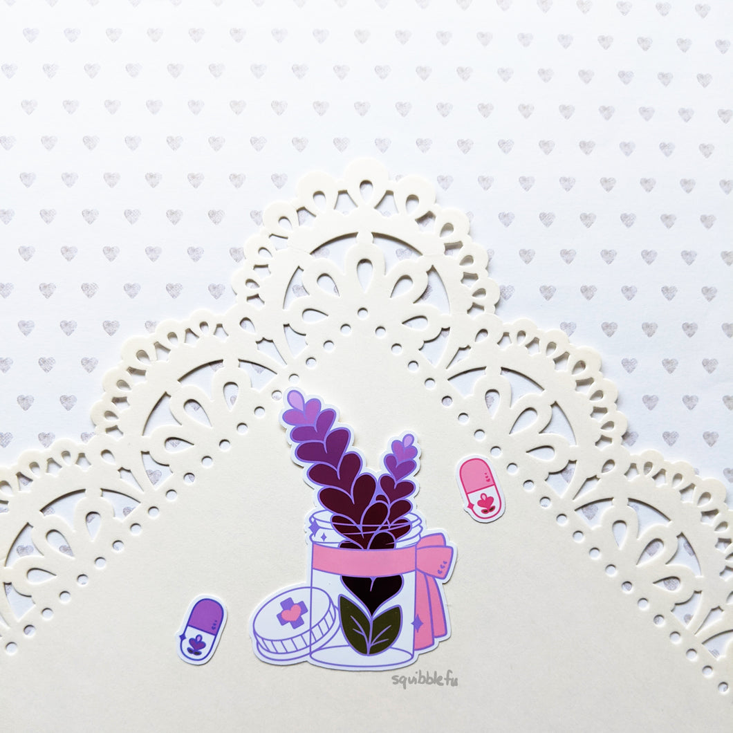 Calming Lavender Sticker Set
