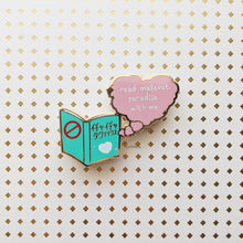 Load image into Gallery viewer, Read Makeout Paradise With Me | Hard Enamel Pin