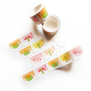 Pastel Kawaii Sushi | Stamp-Style Washi Tape