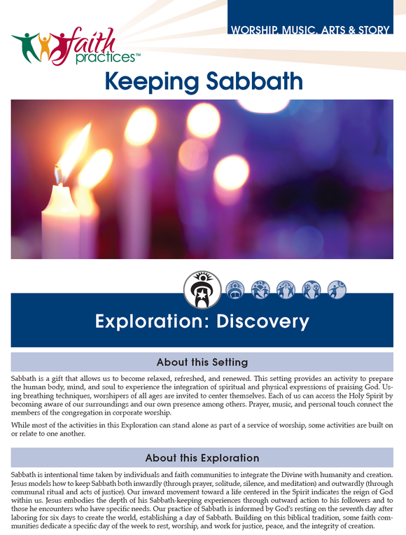 Faith Practices | Keeping Sabbath (Downloadable PDFs)