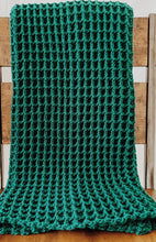 Load image into Gallery viewer, Evergreen Waffle Stitch Crochet Blanket Pattern