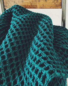Evergreen Waffle Stitch Crochet Blanket Pattern