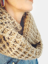 Load image into Gallery viewer, Crochet Waffle Stitch Infinity Scarf