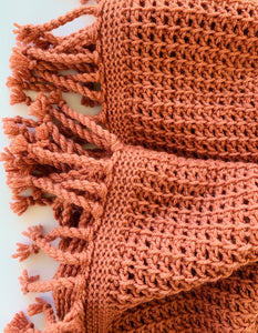 The Ava Throw Tunisian Crochet Pattern