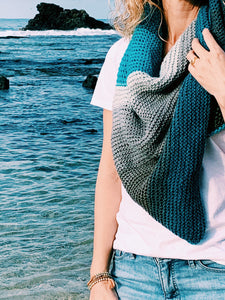 The Seaside Shawl - A Tunisian Crochet Shawl Pattern