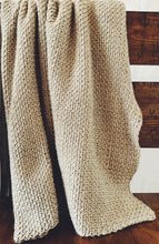 Load image into Gallery viewer, Linen Stitch Simple Crochet Throw Pattern