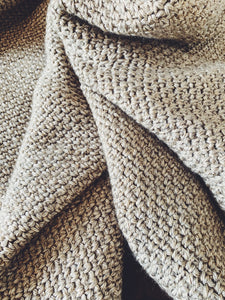 Linen Stitch Simple Crochet Throw Pattern