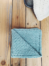 Load image into Gallery viewer, Tunisian Crochet Basketweave Washcloth