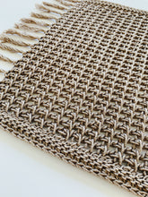 Load image into Gallery viewer, Tunisian Crochet Rectangle Placemat Pattern