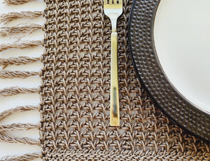 Tunisian Crochet Rectangle Placemat Pattern