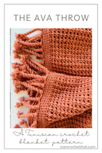 Load image into Gallery viewer, The Ava Throw A Crochet Throw Pattern
