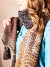 Load image into Gallery viewer, Autumn Ombre Scarf - Tunisian Crochet Pattern