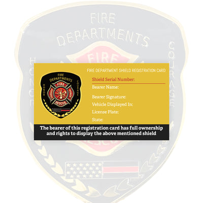 Fire Department Windshield Badge