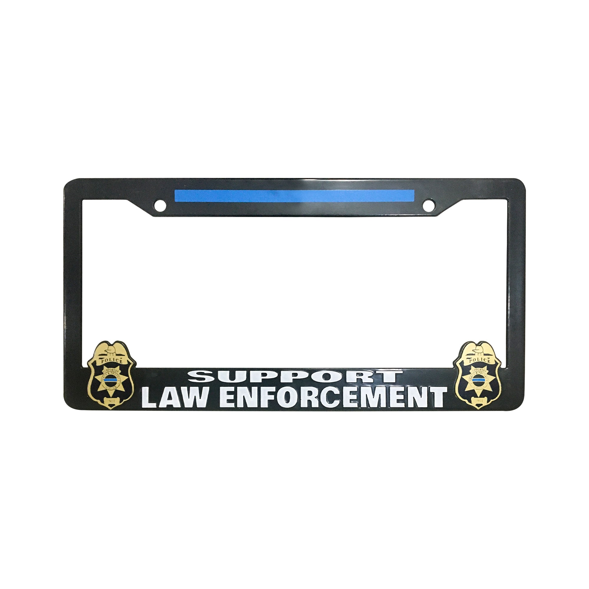 Police Supporter License Plate Frame