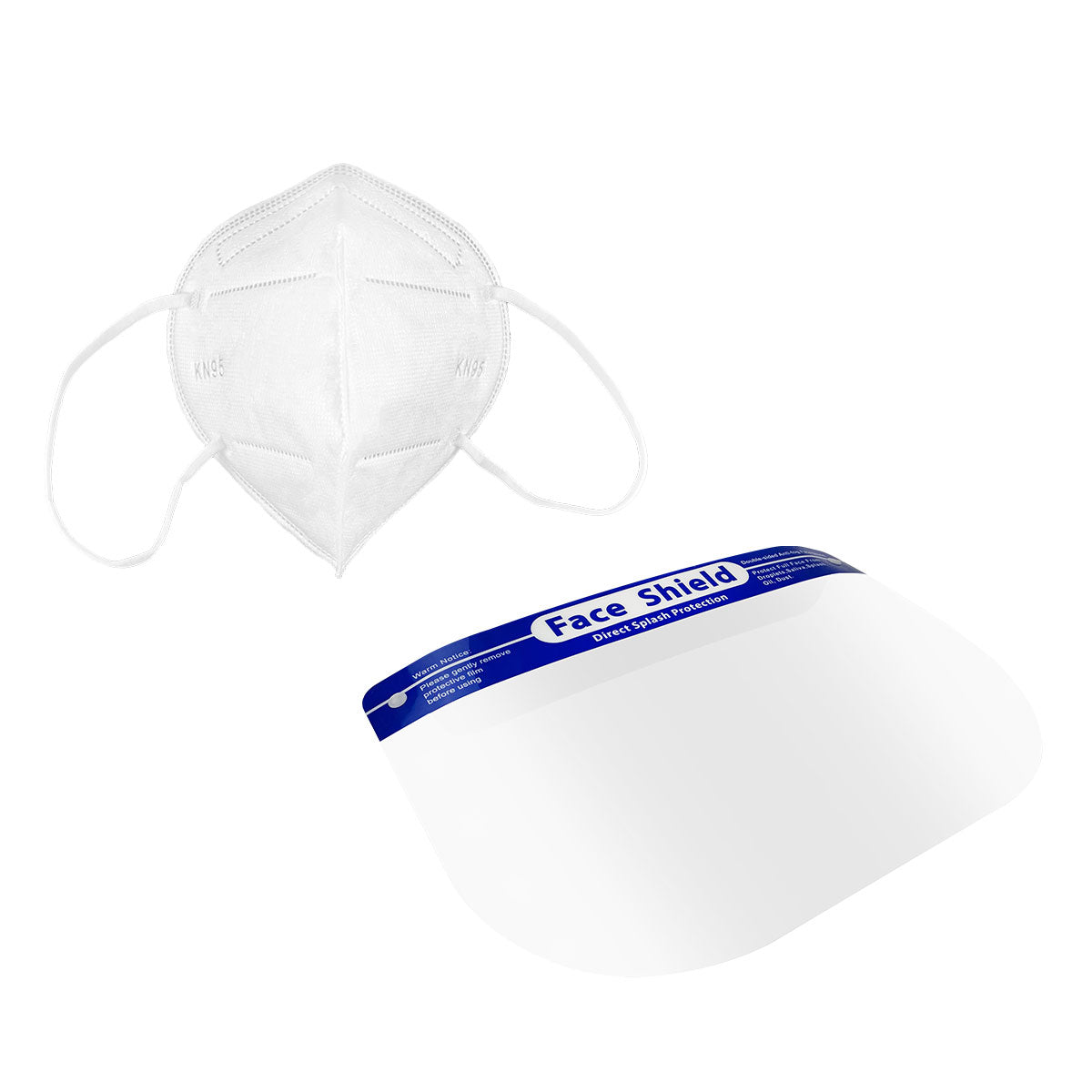Face Shield + 5 PACK - KN95 /FFP2 4-Layer Fitted Disposable Mask