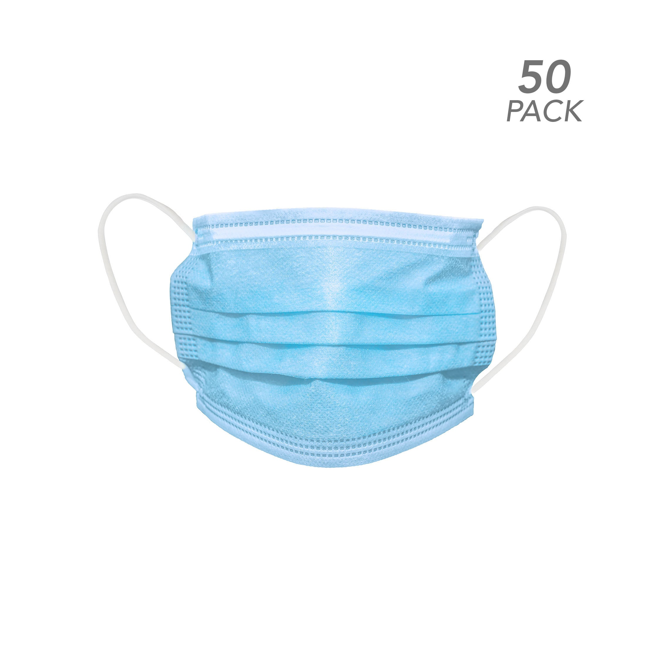 50 PACK - Disposable Protective Mask - 3 Ply