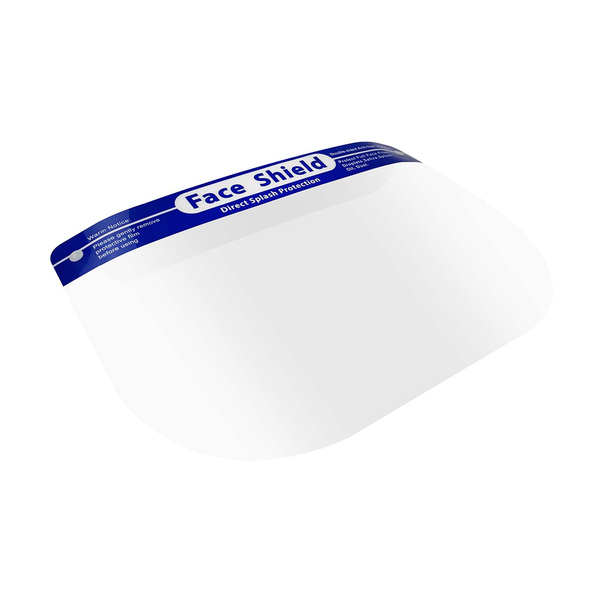 Face Shield With Blue Headband - Clear