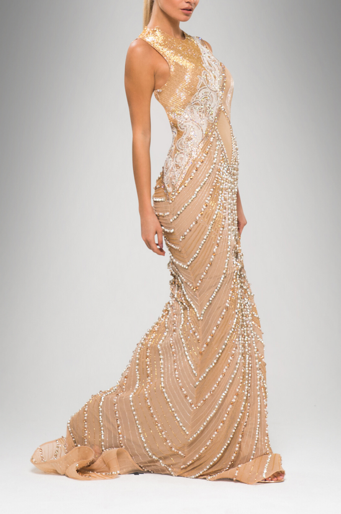 Pearl Embellished Gown