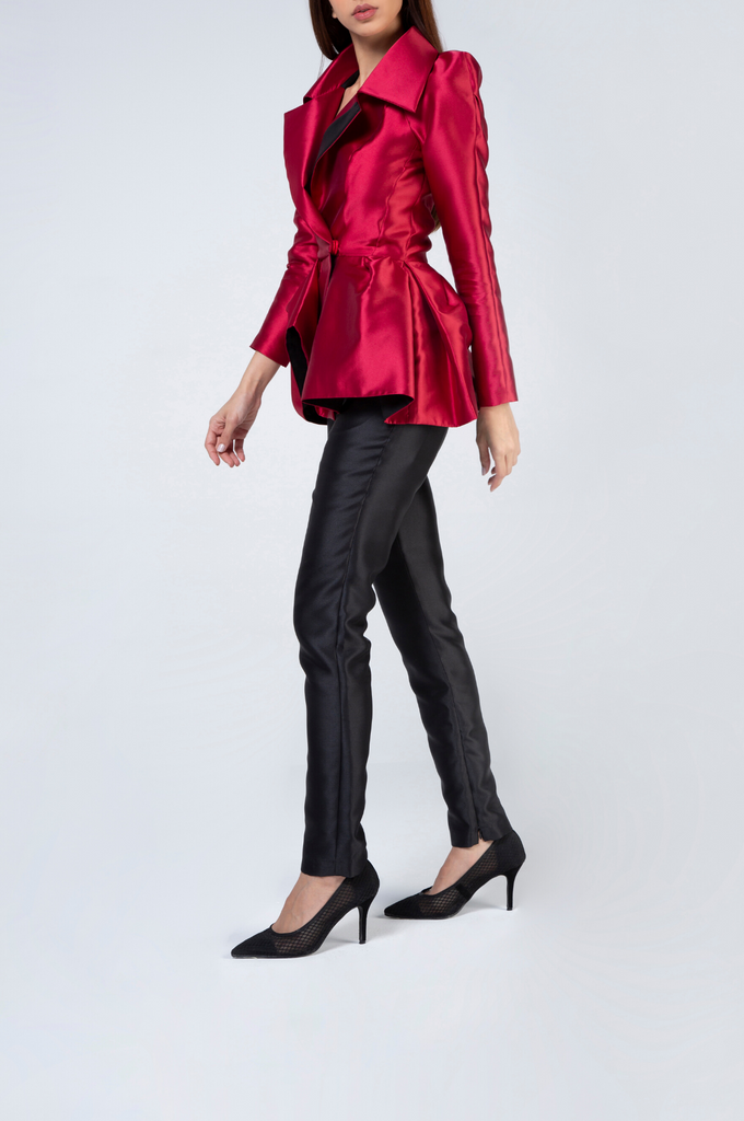 Long Sleeve Silk Cotton Jacket