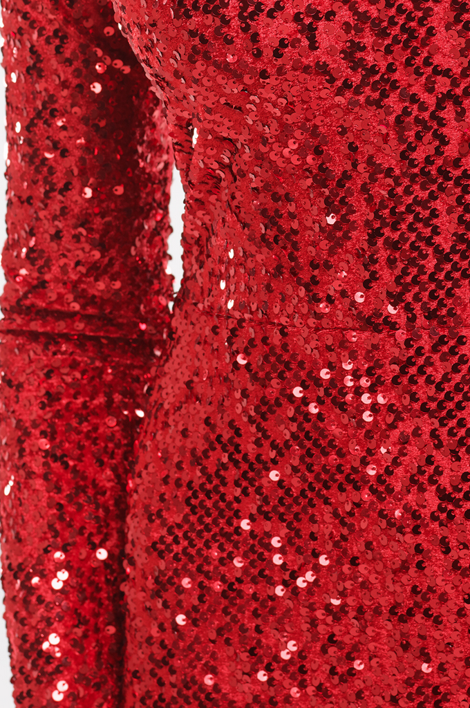 Velvet Sequin Gown