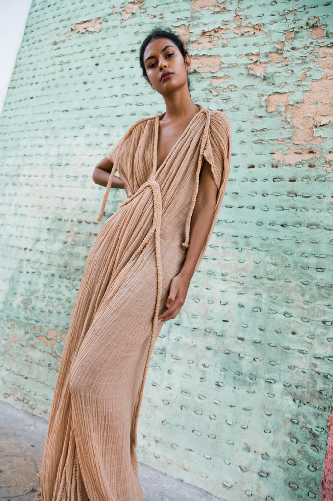 Athena Full Length Draping Gown